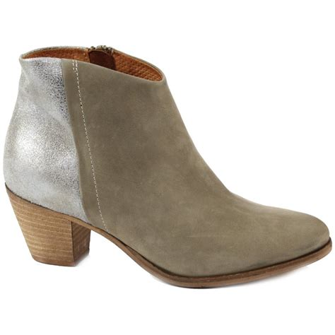 metallic boots cara flyby suede metallic ankle boot new