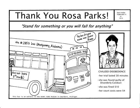 Rosa Parks Coloring Page rosa parks coloring pages az coloring pages