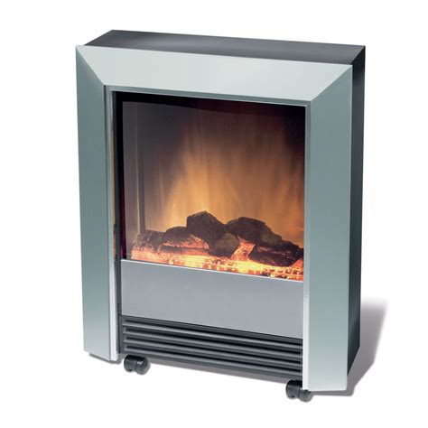 Portable Electric Fireplace Silver 2kw Portable Electric With Optiflame Log