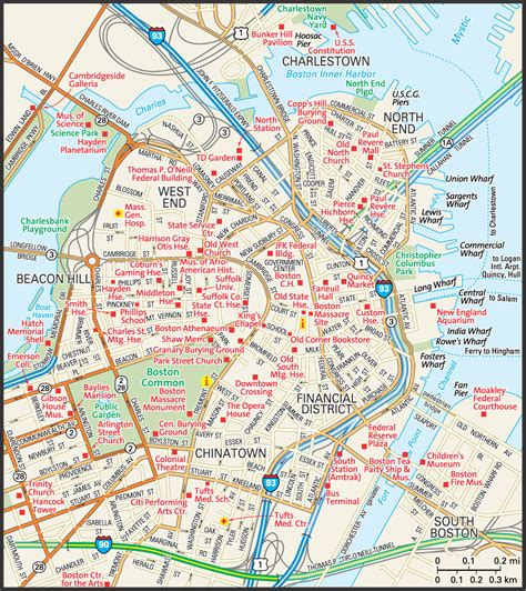 map of boston ma map of boston massachusetts pictures to pin on pinsdaddy