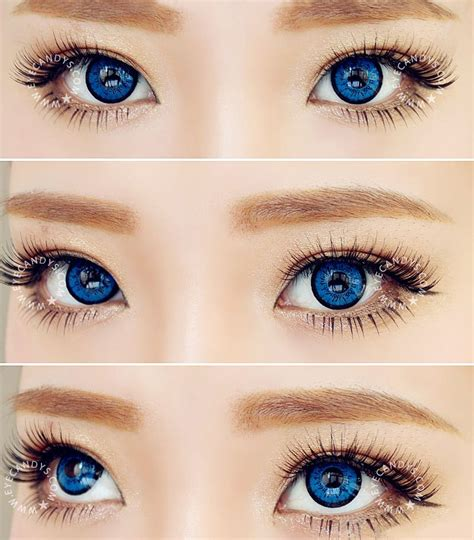 blue colored contact lenses eos dollyeye blue color contact lens big eye circle lens
