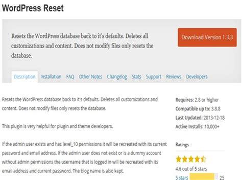 reset tool plugin nextgen top 8 tools for wordpress developers