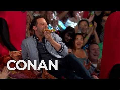 nick kroll conan nick kroll s sausage party entrance conan on tbs youtube