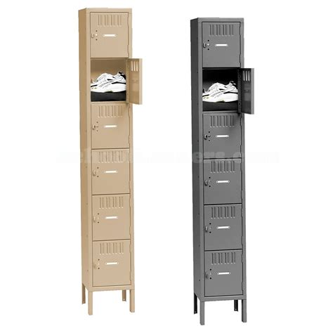 Box Locker tennsco six tier metal box locker
