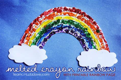 printable rainbow craft