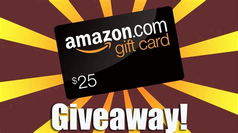 Giveaway Gift Card - closed 25 amazon gift card giveaway youtube