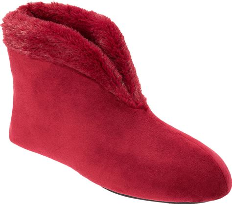 dearfoams womens solid velour boot slippers ebay
