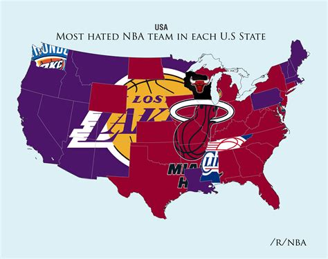 nba map sports me now reddit user maps out nba teams hatred
