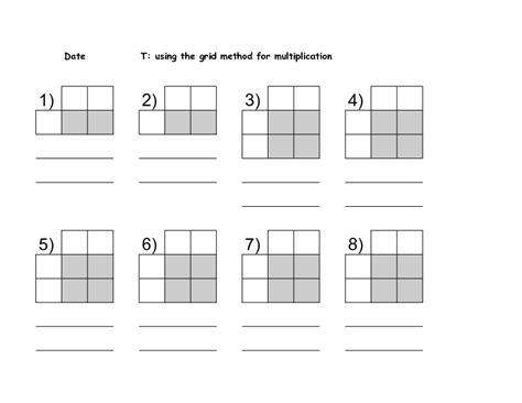 printable multiplication grid worksheet grid multiplication worksheets year 3 the grid method