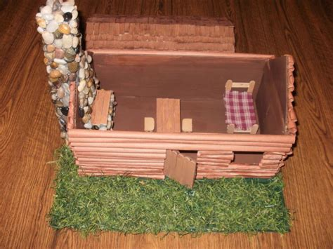 log cabin lets make this house into a home pinterest model log cabin for 3rd grade social studies project