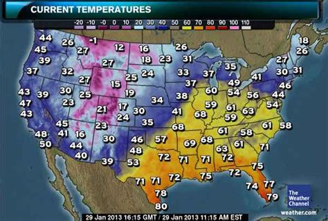 us weather map for today temperature it s going to get how warm today temperature already
