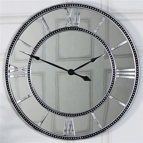 extra large wooden station wall clock melody maison 174 large mirrored skeleton style wall clock with roman
