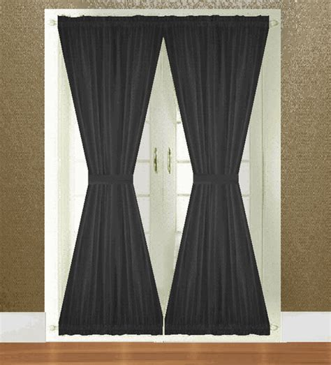 solid door panel curtains solid colored french door panels 36 colors