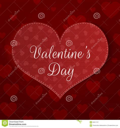 big valentines day big valentines day banner with pattern stock vector