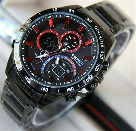 D Ziner D 8140 Black K Original jual jam tangan d ziner dz 8106 black original anti air