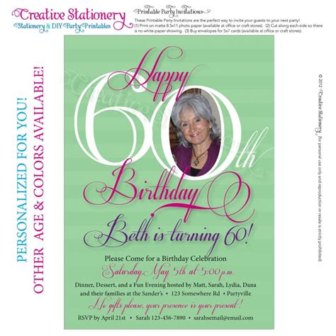 60th Birthday Card Wording Invitation Cards For 60th Birthday Party Invitation Librarry