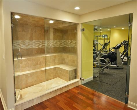 basement steam room basement retreat transitional home boston by