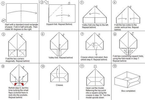 Origami Box Template - simple origami box search origami