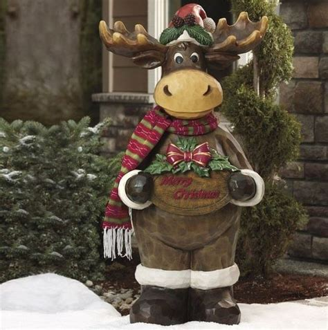 indoor outdoor moose and christmas decorations on pinterest