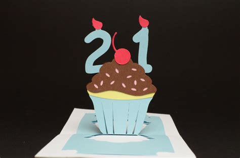 birthday cake popup card template birthday pop up card detailed cupcake tutorial creative