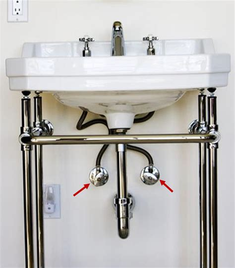 kitchen sink water valves
