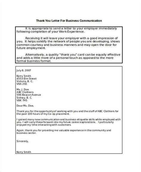 thank you letter for business venture business thank you note business communication thank you