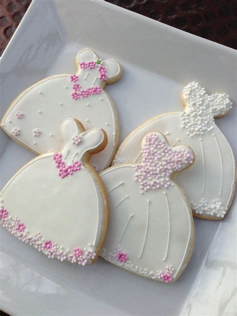 Bridal Shower Favors Cookies by Decorated Cookie Wedding Dress Cookie Favor 2061394
