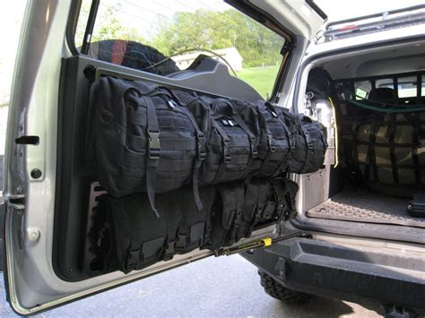 survival truck interior mounting up with springtail solutions expeditionr fj