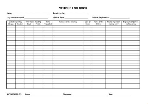 record book template vehicle log book www pixshark images galleries