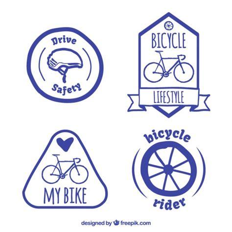 Fahrrad Aufkleber Gratis by Gezeichnet Fahrrad Etiketten Packen Der