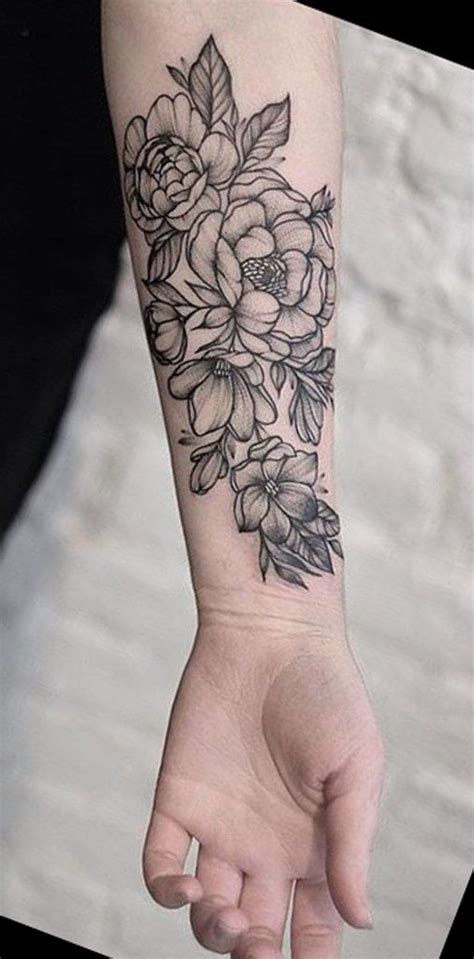 floral wrist tattoo black wrist flower tattoos mybodiart