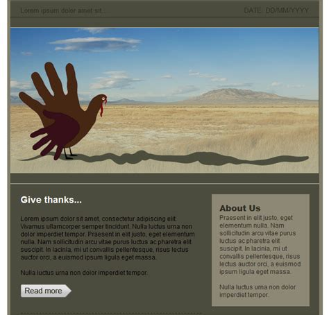 groupmail html email template thanksgiving free group