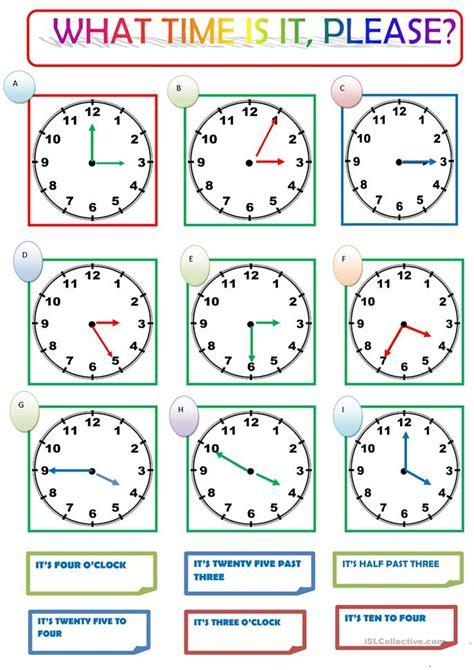 esl worksheets what time is it what time is it worksheet free esl printable