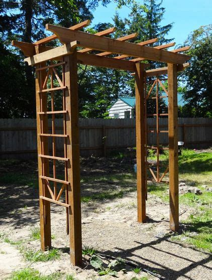 building an arbor trellis frame your garden with a diy arbor for 150
