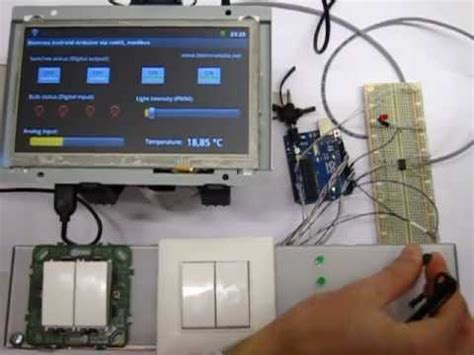 android touch screen communicates with arduino using