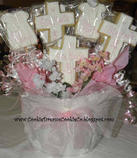 Cookie Dreams Cookie Co Christening Cookie Centerpieces Baptism Centerpieces Ideas
