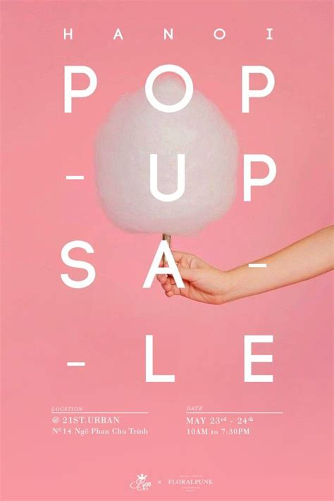 design poster pop up sale weekend popup punk and floral