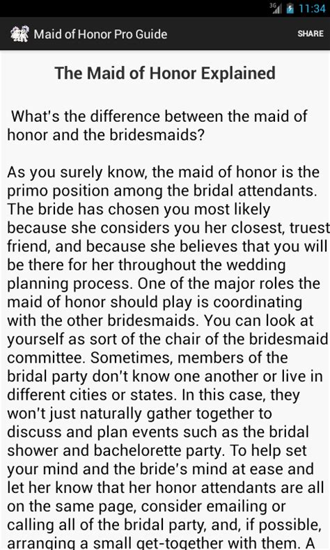 Sle Of Of Honor Speeches For Best Friend of honor pro guide android apps on play