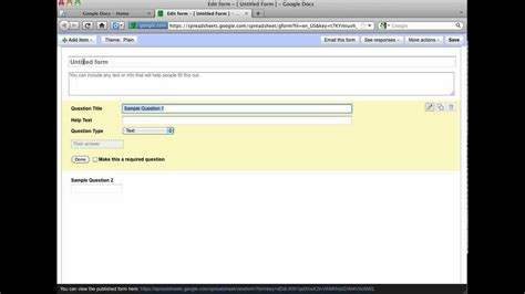 how to make google docs questionnaire youtube how to create a free online survey with google docs youtube