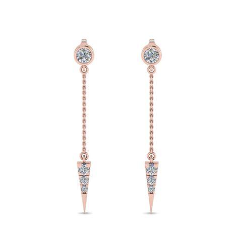 Chain Earring chain drop earring in 14k gold