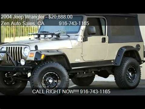 2004 To 2006 Jeep Unlimited For Sale 2004 Jeep Wrangler Unlimited Sport Lwb Custom For Sale