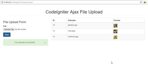 codeigniter tutorial upload image codeigniter ajax file upload using jquery free source