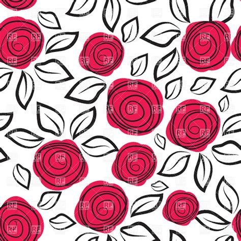 rose pattern clipart seamless background with abstract rose vector clipart
