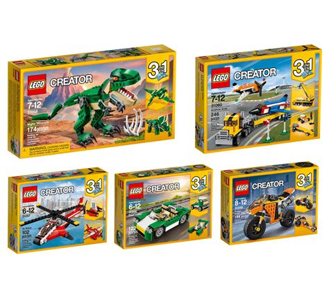 Set 3in1 1 brickfinder lego creator 2017 3 in 1 sets announced