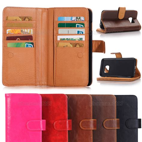 Luxury Wallet Leather Samsung Galaxy S6 Edge luxury leather wallet flip stand phone cover for