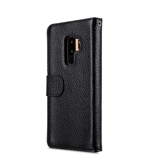 Lc Leather Black Series premium leather e for samsung galaxy s9 plus wallet