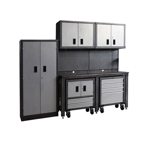 shop international tool storage metal garage cabinet at