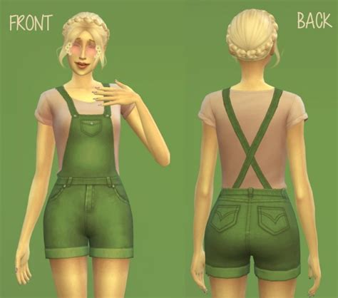 sims 4 overall shorts short overalls by amylet at mod the sims 187 sims 4 updates