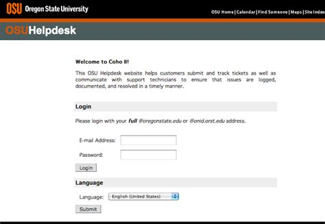 oregon state computer help desk how to submit a helpdesk request information services