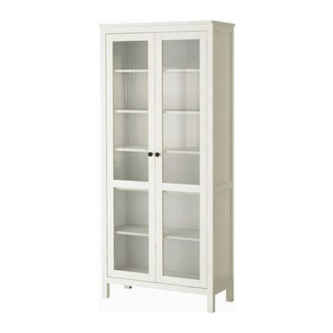Glass Door Cabinet Ikea Hemnes Glass Door Cabinet White Stain Ikea